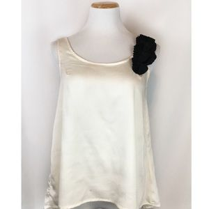 Apostrophe White Embellished Tank Top